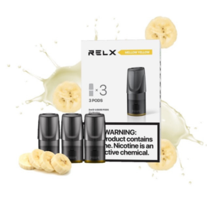 RELX Pods Mellow Yellow (Banana Smoothie) Pack of 3 pieces