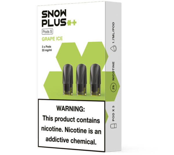 Snowplus Pods 3.0 Grape Ice 3% - Pack of 3
